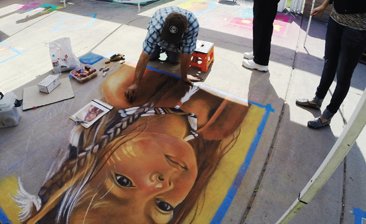Picture of Indio Art in the Square Chalk Festival